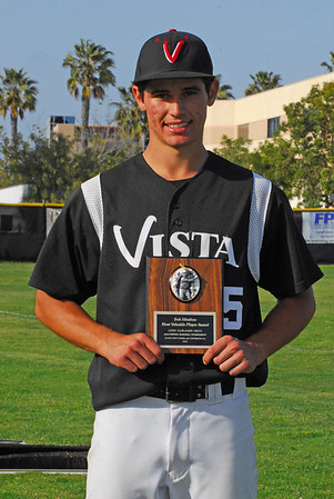Vista Panthers Billy Roth awarded 2012 Lions Tournament Most Valuable Player Award.